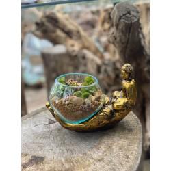 Vasque Bol Marbre Extérieur bouchardé 45 cm