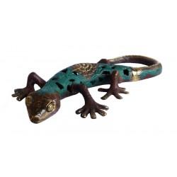 """Statuette """"Gecko"""" bicolore"""