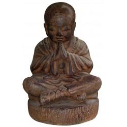 Enfant Moine Shaolin Assis