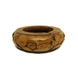 Cendrier en bois sculpté