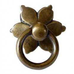 """Poignée """"Fleur"""" avec anneau..."""